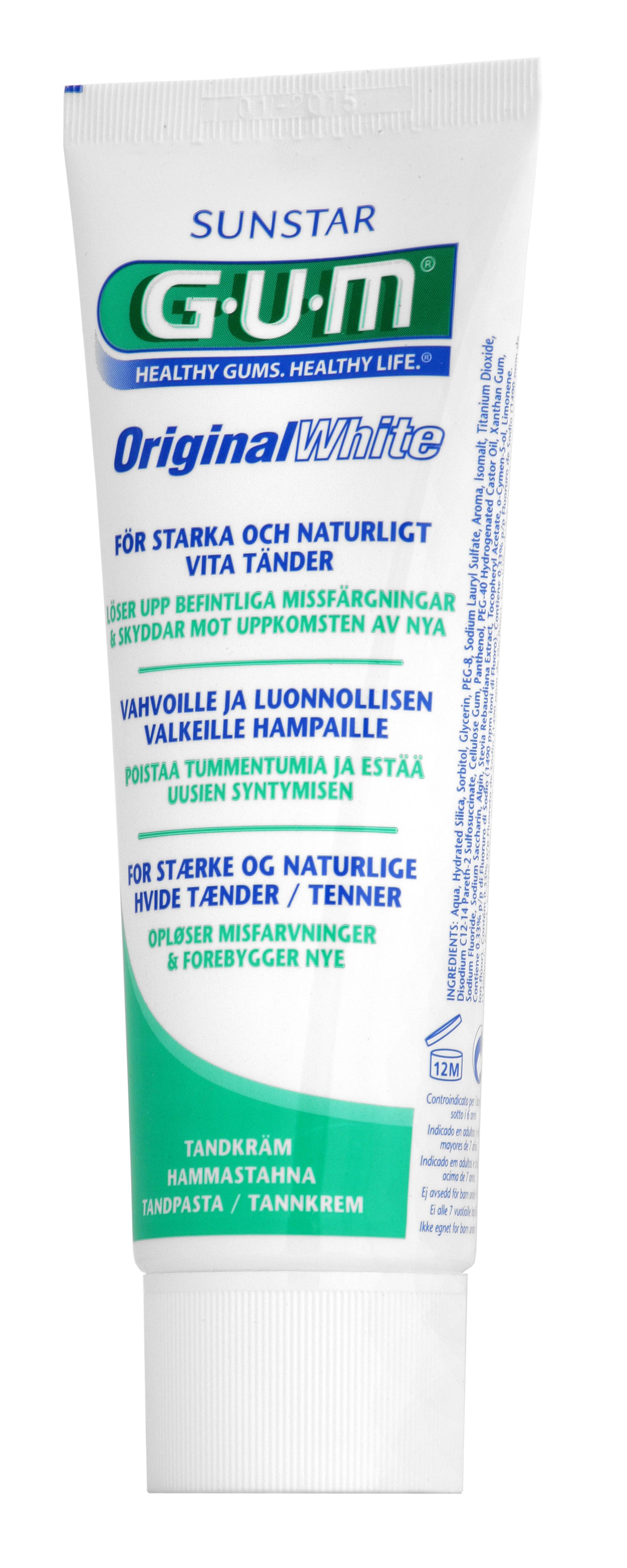 GUM Original White, tandpasta, 75 ml