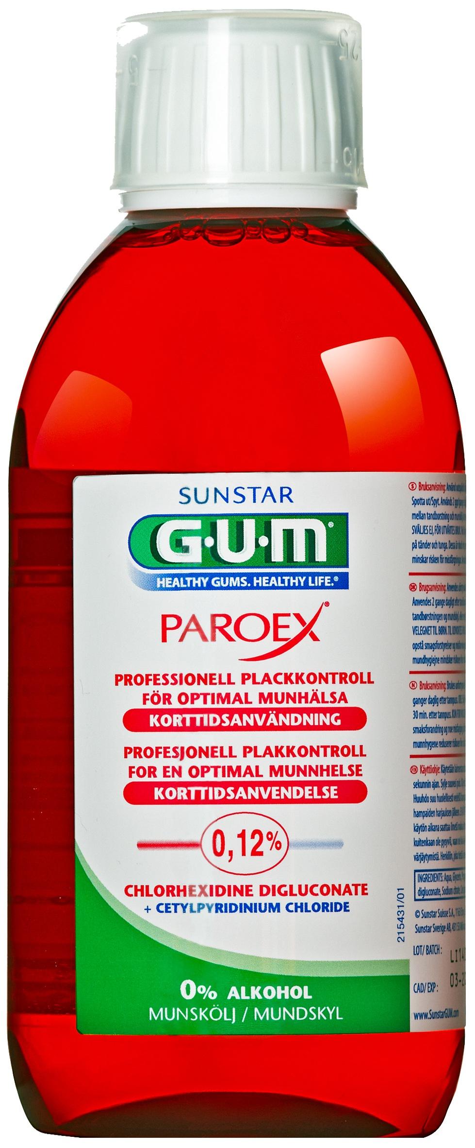 GUM Paroex, mundskyl, 0.12%CHX, 300 ml