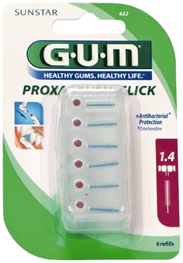 GUM Proxa, CLICK, iso 4, 1.4 mm, 6 stk