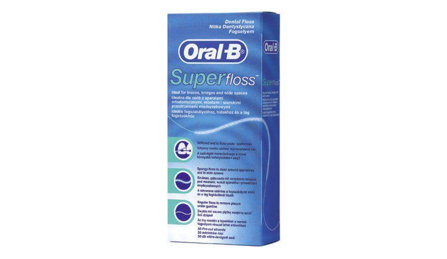Oral-B, tandtråd, Superfloss, ekstra tyk, 50 stk