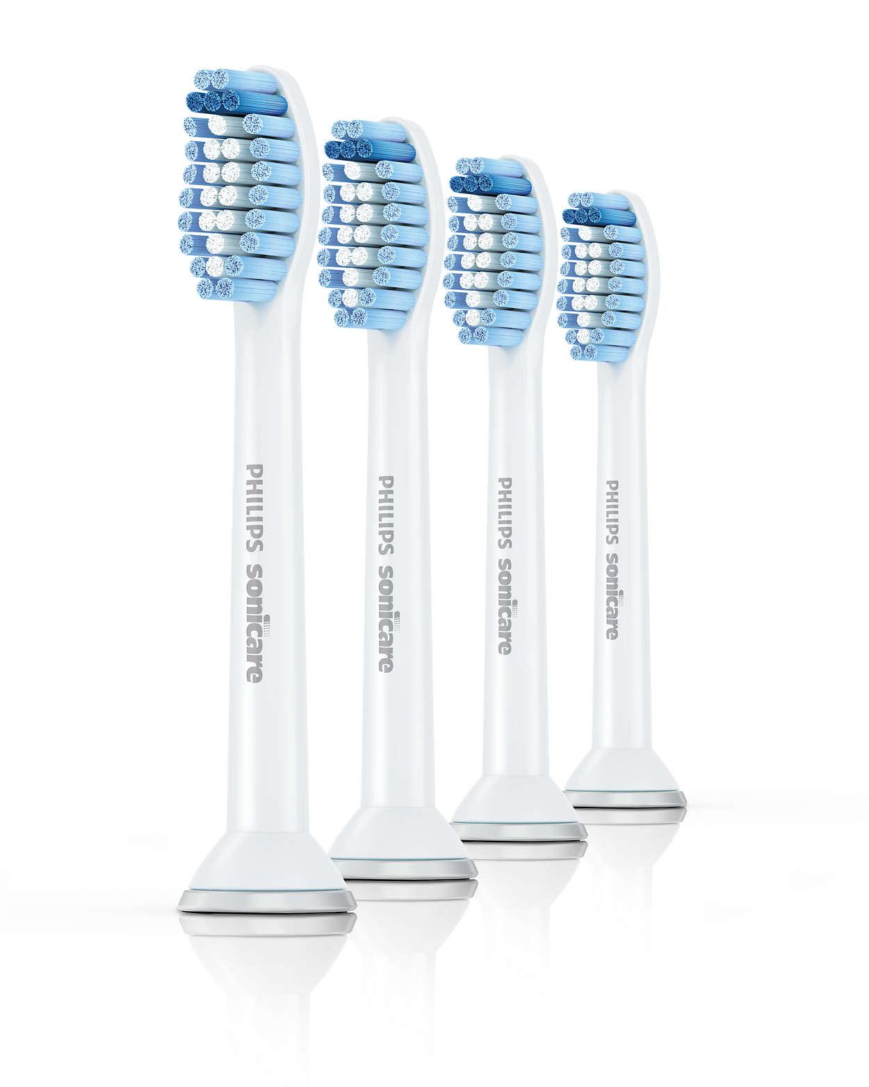 Philips, Sensitive, standard, børstehoved, 4 stk