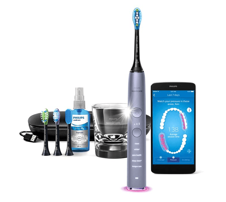 Philips, Smart DiamondClean, el-tandbørste, grå