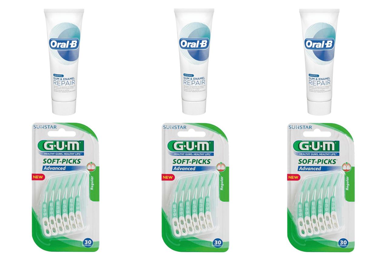 Oral-B, Gum & Enamel/Soft-Picks, Advanced, Medium-3stk